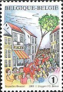 """Folklore: 700 y. planting """"Meiboom"""", Brussels"""