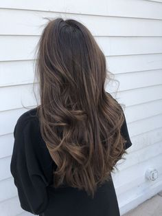 Luscious Balayage With Subtle Purple Tones - 20 Stunning Examples of Mushroom Brown Hair Color - The Trending Hairstyle Brown Ombre Hair, Brown Hair Balayage, Brown Blonde Hair, Brown Hair With Highlights, Ombre Hair Color, Brown Hair Colors, Brunette Hair, Ombre Highlights, Long Brown Hair