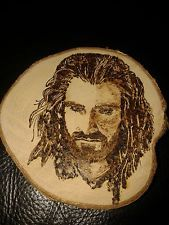PYROGRAPHED PLAQUE THORIN OAKENSHIELD THE HOBBIT.