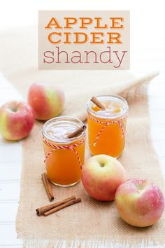 Mix up an apple cider shandy using apple cider, pumpkin beer, and cinnamon for tasty seasonal treat. This simple cocktail is perfect for autumn gatherings!