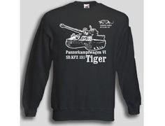 Pullover Tiger 501  Pullover Panzerkampfwagen VI SD.KFZ 181 Tiger, 501. sPzAbt. Der Tiger Panzer Pullover ist in den Größen S-XXL erhältlich. Auf dem Pullover ist der berühmte Tiger Panzer abgebildet, sowie deas Abzeichen der 501. sPzAbt. / mehr Infos auf: www.Guntia-Militaria-Shop.de