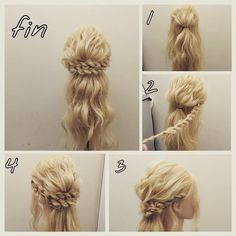 halfupPrincess Braided Updo Hair Tutorial ~ Entertainment News, Photos & Videos - Calgary, Edmonton, Toronto, Canada