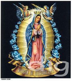 virgin guadalupe | Virgin Mary w Angels Virgin de Guadalupe Sticker Decal | eBay