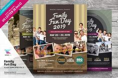Family Fun Day Flyers vol.03 by kinzi21 on @creativemarket