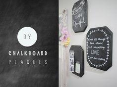 DIY Chalkboard Plaques