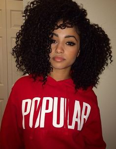 curly hair of girls
