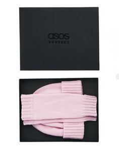 ASOS Made In England Premium Cashmere Beanie & Palmwarmer Box Gift Set