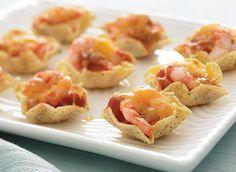 Bouchées fondantes aux crevettes et à la salsa recette | Plaisirs laitiers