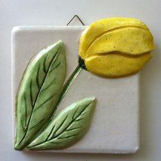 Handmade Relief Tulip Tile