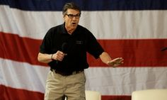 Texas Governor Rick Perry at a fellow Republican's campaign event. - Associated Press