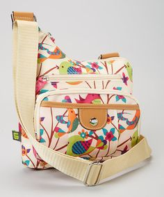 The conveniently adjustable crossbody style, exterior and interior pockets, and luxurious, biodegradable construction are reasons enough to love this elegant bag. But the beautiful modern print is what takes it from a functional accessory to a wearable wo