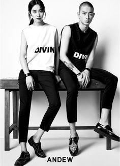 Kwak Ji Young, Park Sung Jin for Andew Spring 2015 collection Park Sung Jin, Young Park, Korean Model, Spring 2015, Fashion Photo, Streetwear, Singing, Shots, Paint