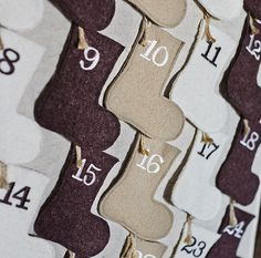 Holiday Calender with Embroidered Stockings.