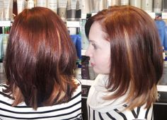 peek-a-boo highlighting underneath contrasting rich amber color... love the hints of blonde peeking through!