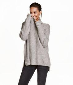 Rollkragenpullover | Graumeliert | Damen | H&M DE