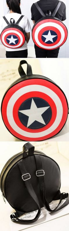 Captain America Backpack! Click The Image To Buy It Now or Tag Someone You Want To Buy This For.  #CaptainAmerica