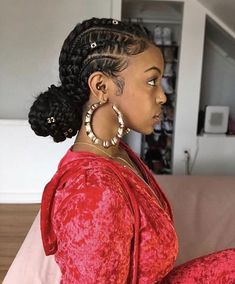 |pin: @deetrillz| sc: @dobriin| ig: @dobriin| Latest Braided Hairstyles, Feed In Braids Hairstyles, Girl Hairstyles, Celebrity Hairstyles, Feed Braids, Hairstyles 2018, Stylish Hairstyles, Hairstyles Pictures, Braided Hairstyles For Black Women Cornrows