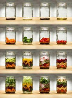 Salat im Glas: Hol d