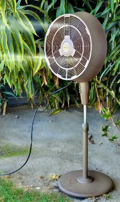 Enjoy A Cool And Comfortable Patio Area With A NewAir Outdoor Misting Fan.  Gentle, Continuous Misting Creates The Perfect Setting On A Hot Day!
