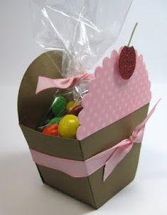 Sweet Pea - Bunny: Petal Cone Die Cupcake.  Cute party favor or gift box