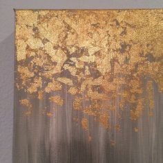 gold leaf painting abstract gold leaf painting 8x10 wall art heavy dutyu2026