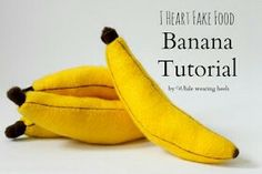 Felt bananas