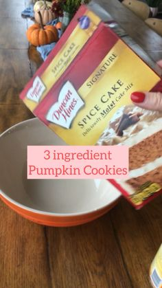 Cookie Desserts, Just Desserts, Cookie Recipes, Delicious Desserts, Yummy Food, Tasty, Pumpkin Recipes, Fall Recipes, Sweet Recipes