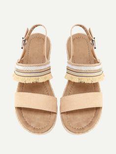 Shop Fringe Detail Flat Sandals online. SheIn offers Fringe Detail Flat Sandals & more to fit your fashionable needs.