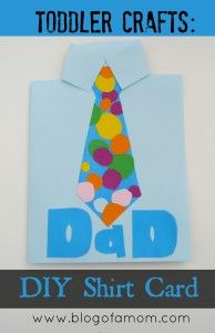Crafts with toddlers: Homemade birthday / fathers day card for dad Homemade Birthday Cards, Dad Birthday Card, Birthday Crafts, Happy Birthday, Crafts For Kids To Make, Crafts For Teens, Father's Day Activities, Toddler Activities, Daddy Day