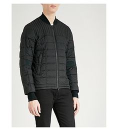 Canada Goose Dunham Shell-down Bomber Jacket In Black Great Lengths, Backpack Straps, Canada Goose, Sportswear, Shell, Bomber Jacket, Winter Jackets, Mens Fashion, Long Sleeve