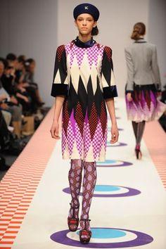 Eley Kishimoto checkerboard paisley tights