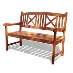 Vifah Outdoor Wood Bench