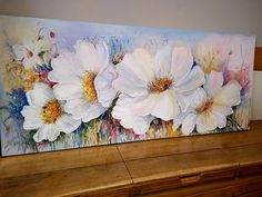 Acrylic Painting Flowers, Acrylic Art, Fabric Painting, Diy Painting, Acrylic Painting Techniques, Art Drawings For Kids, Art Oil, Painting Inspiration, Flower Art