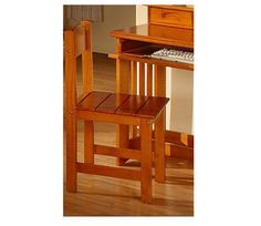 Honey Desk Chair - Sit comfortably in the Merlot solid wood desk chair that is the perfect addition for your Merlot Desk (item 71-2167)! Some assembly required.