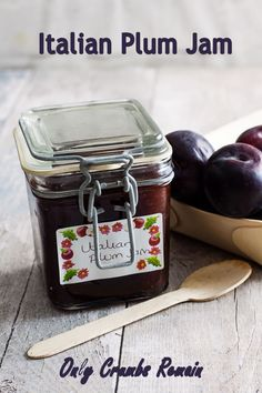 Plum Jam Recipes, Sweet Recipes, Fruit Recipes, Edible Food, Edible Gifts, Fruit Jam, Fresh Fruit, Jam Tarts, Bakewell Tart