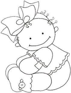 Desenhos de bebê para Pintura e bordados