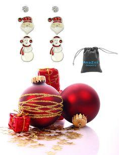 AnaZoz Joyería de Moda Pendientes de Mujer Aleación Sencillo de Tres Pares de Pendientes Para Regalo de Navidad Pendientes Para Mujer