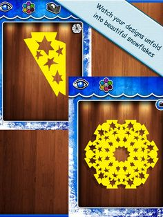 Snowflake Station in a wonderful craft application for iPad that allows children to cut their own paper snowflakes,
