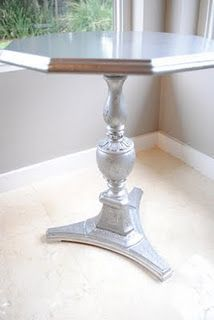 Maybe my little octagonal table should be silver? That would be kinda neat.