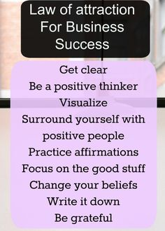 Law of attraction tips for business success. #LOA