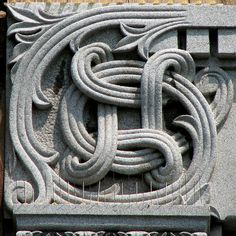 Celtic-like sculpture on a Vermont office building. Or, if you're a nerd, the Apple Command key. Viking Culture, Celtic Culture, Celtic Symbols, Celtic Art, Celtic Knots, Viking Designs, Celtic Designs, Stone Carving, Wood Carving