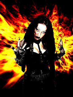 Evil Lucifera, sole member of symphonic black metal band of same name Gothic Images, 70s Punk, Symphonic Metal, Riot Grrrl, Metal Girl, Dark Beauty, Metal Bands, Dark Art, Black Metal
