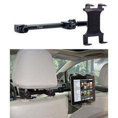 Premium Multi Passenger Headrest Cradle Mount for Apple ipad Mini / ipad Mini 2 / ipad 2 / ipad 3 / ipad 4 and ipad Air w/ Swivel Vibration Free Arm Extender: GPS & Navigation