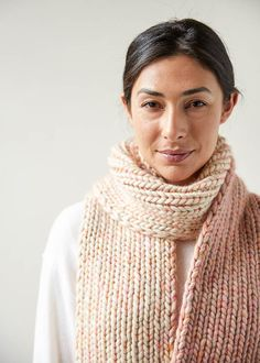Ravelry: Glimmer Scarf pattern by Purl Soho Easy Knitting Patterns, Free Knitting, Knitting Scarves, Knitting Projects, Scarf Patterns, Yarn Projects, Crafty Projects, How To Purl Knit, Knit Purl