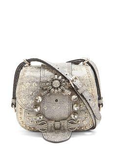 0d844cb11a94 MIU MIU Dahlia embellished leather cross-body bag Miu Miu Handbags