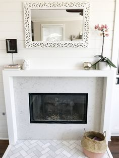 Tips for Designing and Renovating a Tract Home Fireplace and Media Niche Home Fireplace, Fireplace Remodel, Fireplaces, Photo Quality, Slate, Family Room, 4 Years, Design, Home Decor
