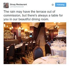 Great Instagram post from Orsay in New York, NY / Sympathique post Instagram de Orsay à New York, NY https://twitter.com/OrsayRestaurant/status/641992227321946112