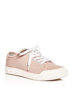 rag & bone Women's Standard Issue Perforated Leather Lace Up Sneakers |  Bloomingdale's