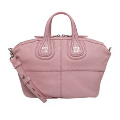 Givenchy 'Micro Nightingale' Pale Pink Goatskin Leather Satchel. Love the color!