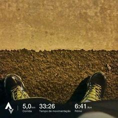 Mais 5km na conta!!! Faltam 8 dias para minha primeira corrida.. Apenas 24 dias de treino... GO! GO! GO! #GoRunner #runner #corrida 13/04/17